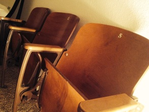 Old High School Auditorium Chairs