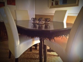 Feather-Trim Table