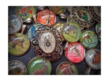 Old books make beautiful pendants